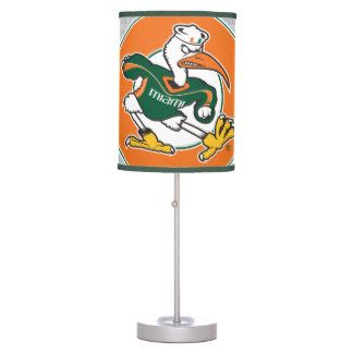Sebastian The Ibis is the mascot for the University of Miami, a hard-fighting bird ready to take on any rival. Look at how majestic he is on this U of M desk lamp. Great for lighting your desk space while studying for exams, or as cool home decor for the Miami fan in your life!