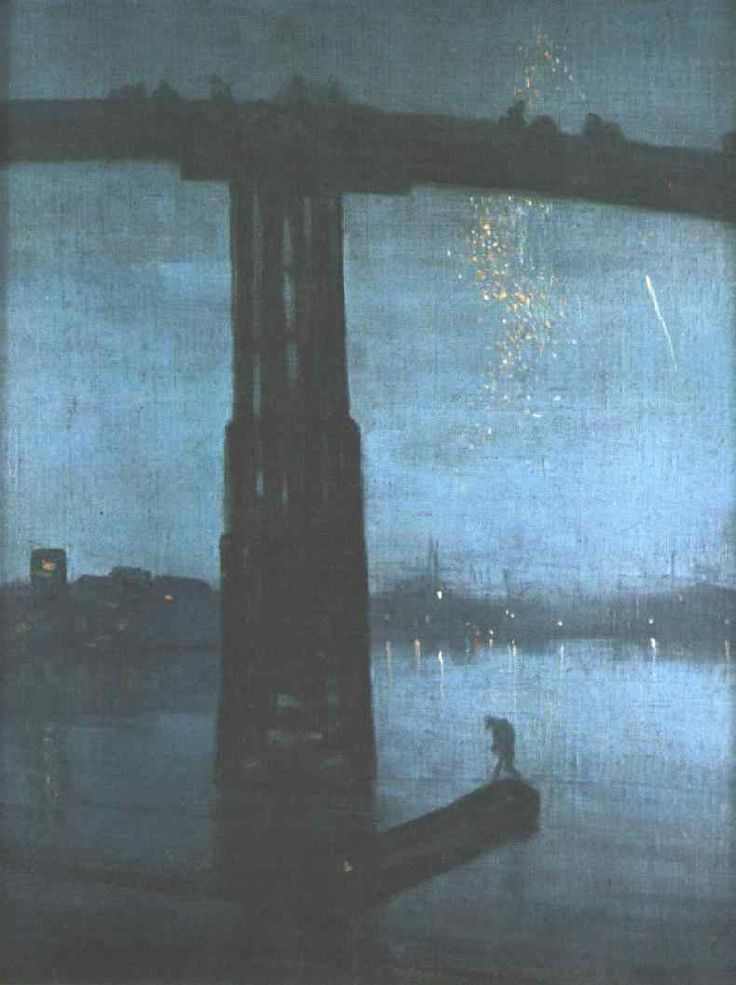 James McNeill Whistler - Nocturne in Blue and Gold: Old Battersea Bridge, 1872-75