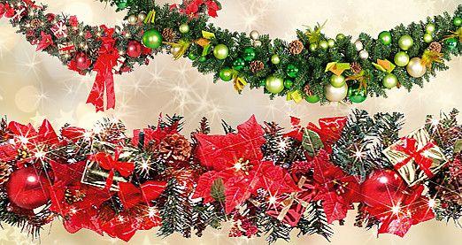 Wunderschöne #weihnachtliche #Tannengirlanden: Ob traditionell grün, geschmückt oder mit Lichtern, es ist für jeden etwas dabei! Je nach Ausführung für Innen- und #Außendeko geeignet. #Weihnachtsgirlanden #Weihnachtsdeko http://www.decowoerner.com/de/Saison-Deko-10715/Weihnachten-10784/Girlanden-10793.html