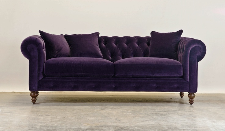 Aubergine Velvet Chesterfield Interiors Exteriors Gardens Pinterest Colors Chesterfield