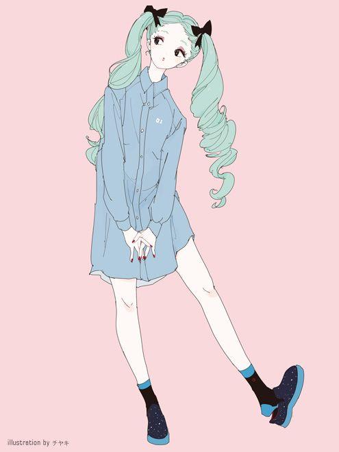 Donde nacen las nubes, vocaloidpics: The Japanese fashion company PIIT...