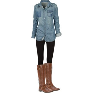 I need to find a good chambray shirt; then I could live in leggings and boots all autumn!