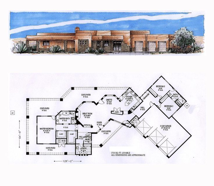 49 best images about santa fe house plans on pinterest for Santa fe home design