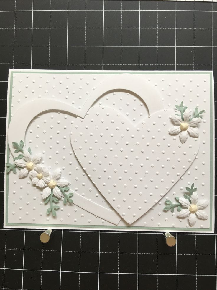 Stampin up heart framelits Dotted Swiss EF Floral punches for flowers and leaves