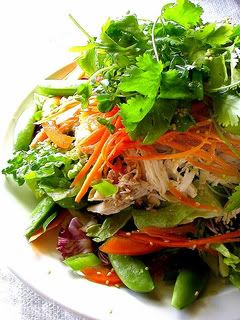 Chinese Chicken Salad. This is a great link to this recipe, it has several salad recipes:)