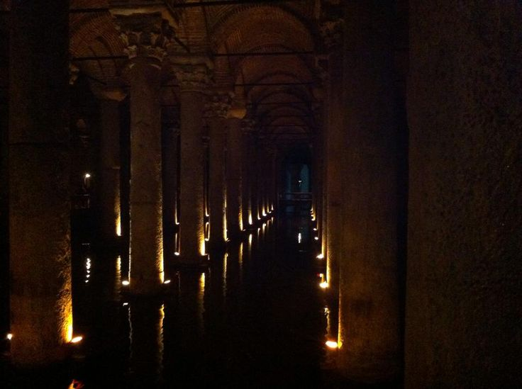 The underground cisterns of Istanbul.
