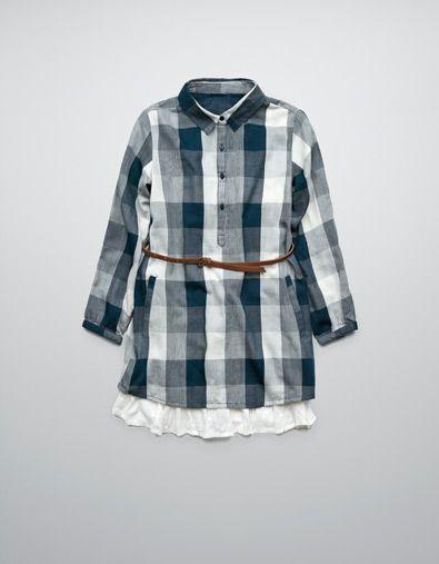 DRESS WITH FRILL BELT - Dresses - Girl (2-14 years) - Kids - ZARA United States