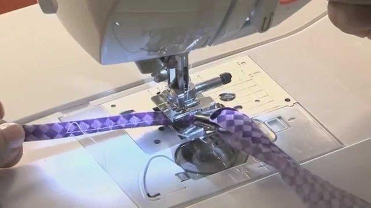 Como coser cinta al bies con Maquina de Coser Brother