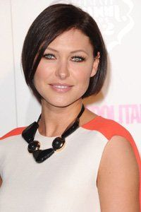 A defined, blunt bob like Emma Willis' is the perfect low-maintenance cut for those with fine hair.