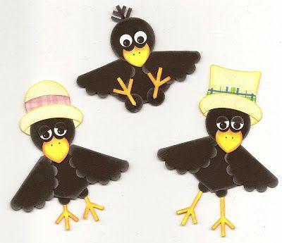 Alex's Creative Corner: Crow Family Punch Art