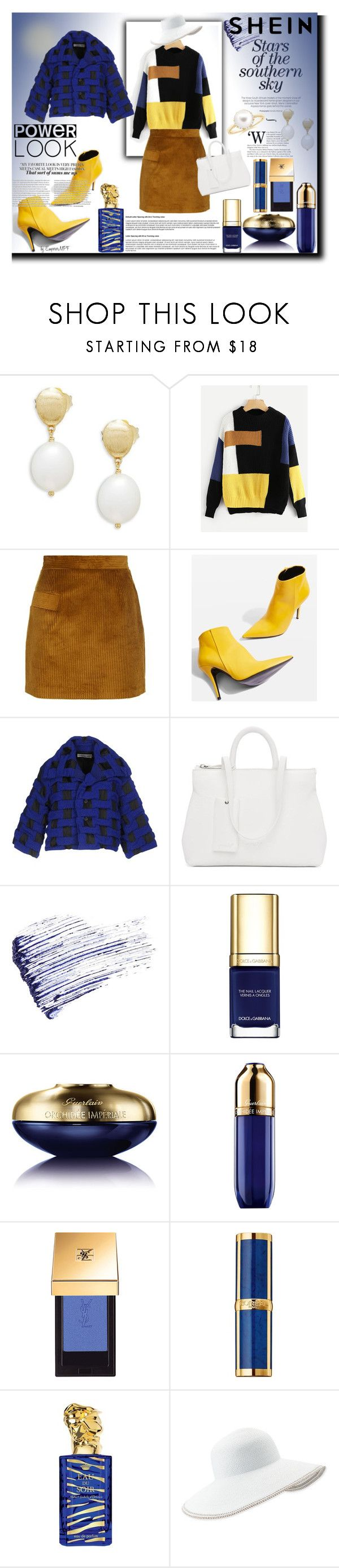 """""""SHEIN Stars of the Southern Sky"""" by emperormpf ❤ liked on Polyvore featuring Marco Bicego, Sandro, Topshop, Issey Miyake, Marsèll, Marc Jacobs, Dolce&Gabbana, Guerlain, Balmain and Sisley"""