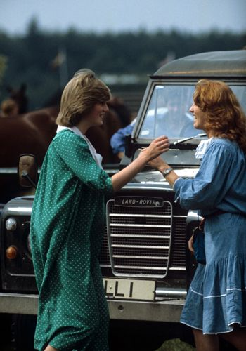 Princess Diana with Sarah Ferguson, 1982