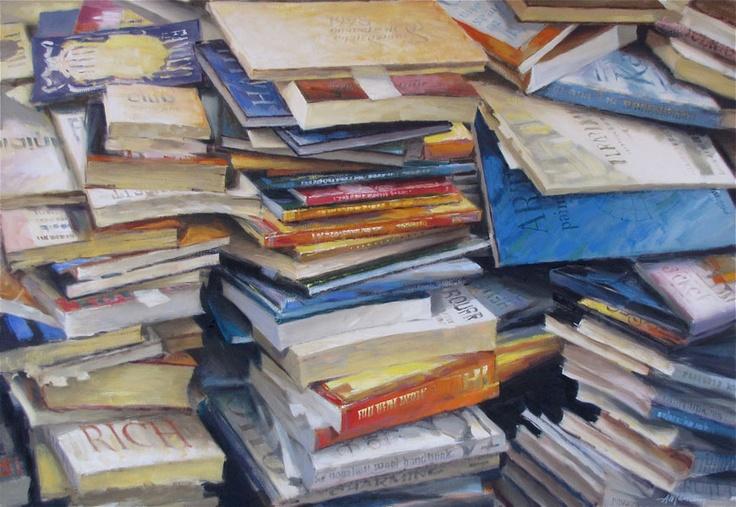 #1335 Libri/Books Olio su tela/oil on canvas 70x100