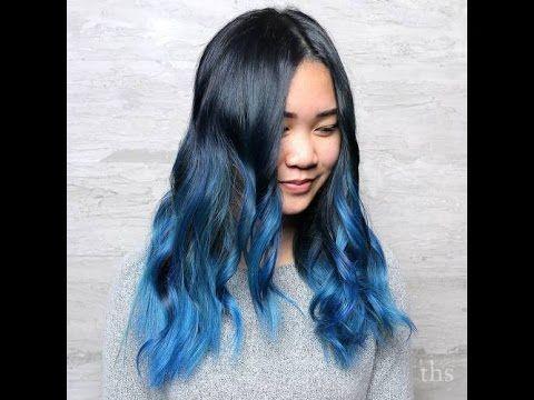 Siyah Saça Mavi Işıltı - Black Hair With Blue Highlights