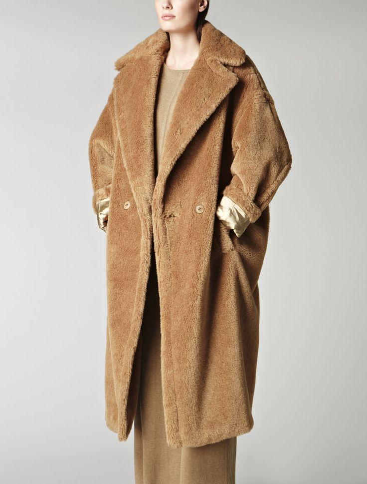 Alpaca and mohair teddybear coat, camel - Max Mara United Kingdom - Carrara coat (169406)  £1,560