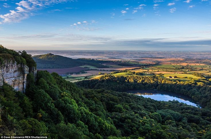 This breath-taking shot of Sutton Bank made the book because of its stunning colours and peaceful waters