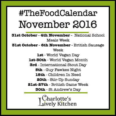 It's time to let you know what's in The Food Calendar for November. I hope you had a fun Halloween yesterday, my boys had a lovely time dressing up and handing out sweets to all the trick-or-treaters. We're looking forward to heading out to our local firework display in Saturday and then I'm going to be getting into full on Christmas mode 🙂 Today marks World Vegan Day and the start of World Vegan Month so I've searched out some great vegan dinner recipes from around the web to share with…