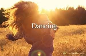 as much as I hate to admit it, yes, dancing like thins girl in the picture makes me feel free and wonderful