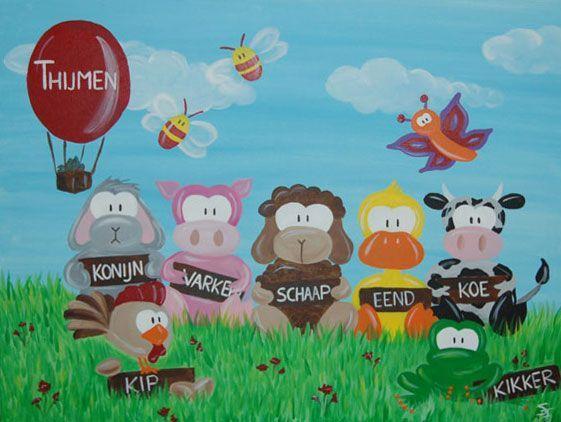 25 beste idee n over canvas schilderij kinderen op pinterest - Schilderij voor meisje slaapkamer ...