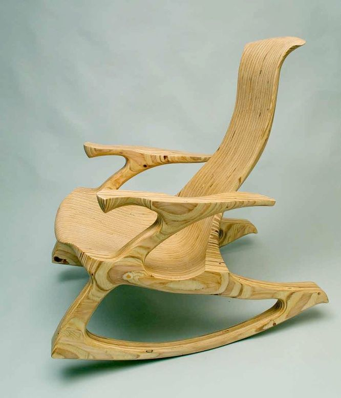 This Rocking Chair Was Made From Ordinary 3 4 Quot Plywood