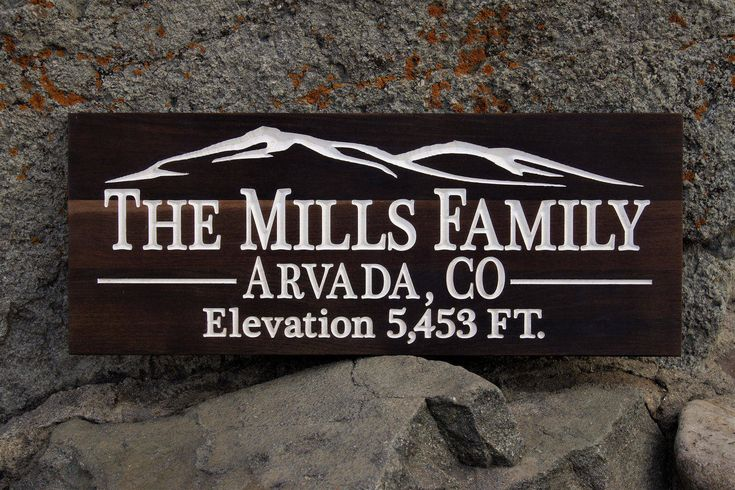Lodge Decor Woodland Mountains Decor Lodge Sign Custom Wood Mountains Elevation Sign Lodge Decor Last Name Family Establish Sign Lodge Sign