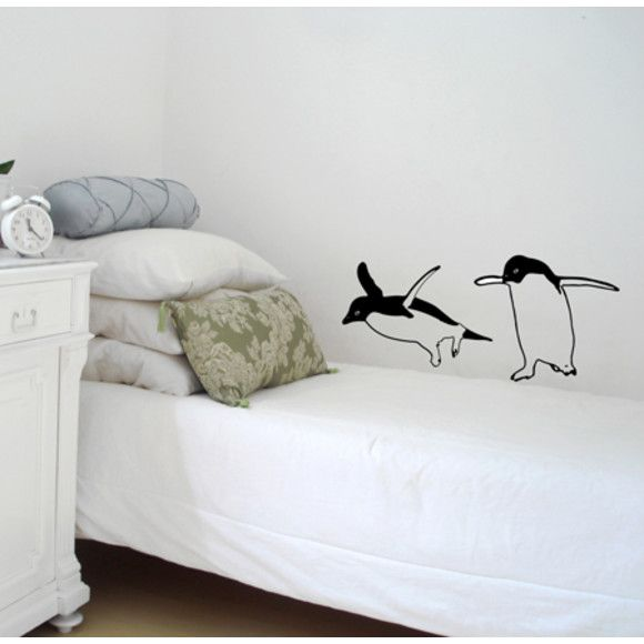 Two Funny Penguins Wall Decal | hardtofind.
