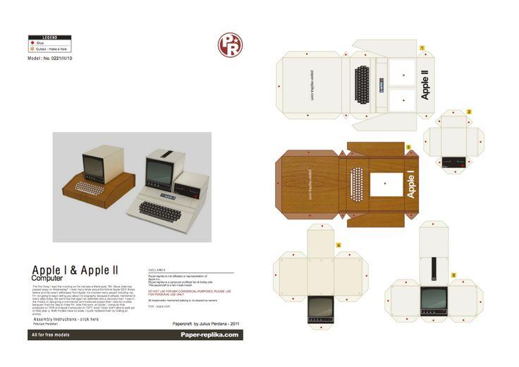 Paper Replika.  Papertoy : Apple I et II.
