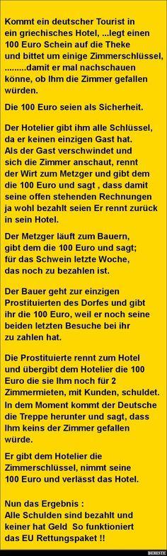 Kommt ein deutscher Tourist in ein griechisches Hotel..   DEBESTE.de, Lustige Bilder, Sprüche, Witze und Videos