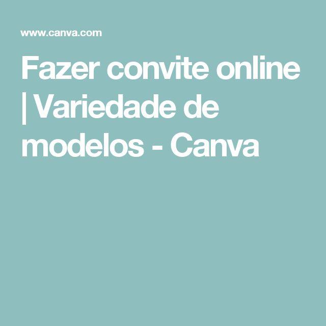 Fazer convite online | Variedade de modelos - Canva