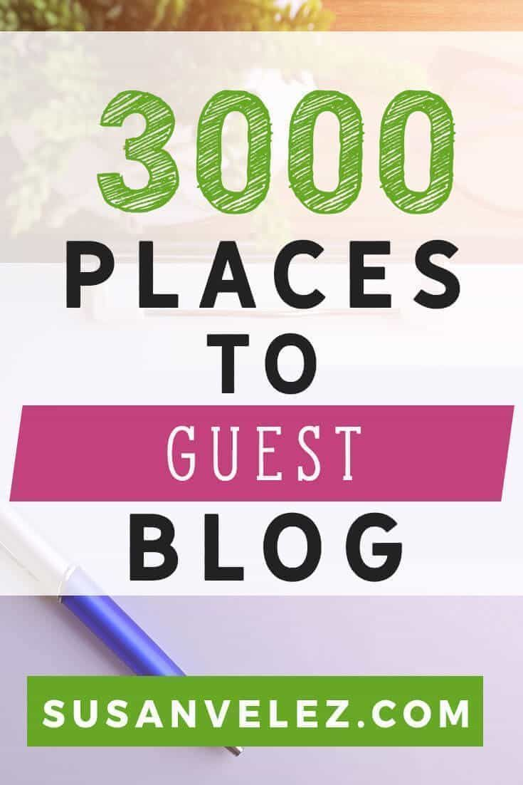 3000 Blogs That Accept Guest Blogging and How to Start