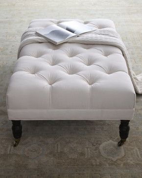 Ellsworth Rectangular Tufted Ottoman - traditional - Footstools And Ottomans - Horchow