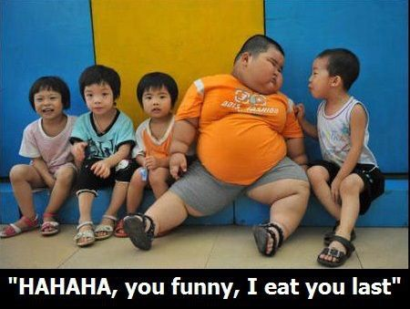 Fat Bastard < Really?! This is a child. There's nothing funny about this. People are so cruel on the internet.