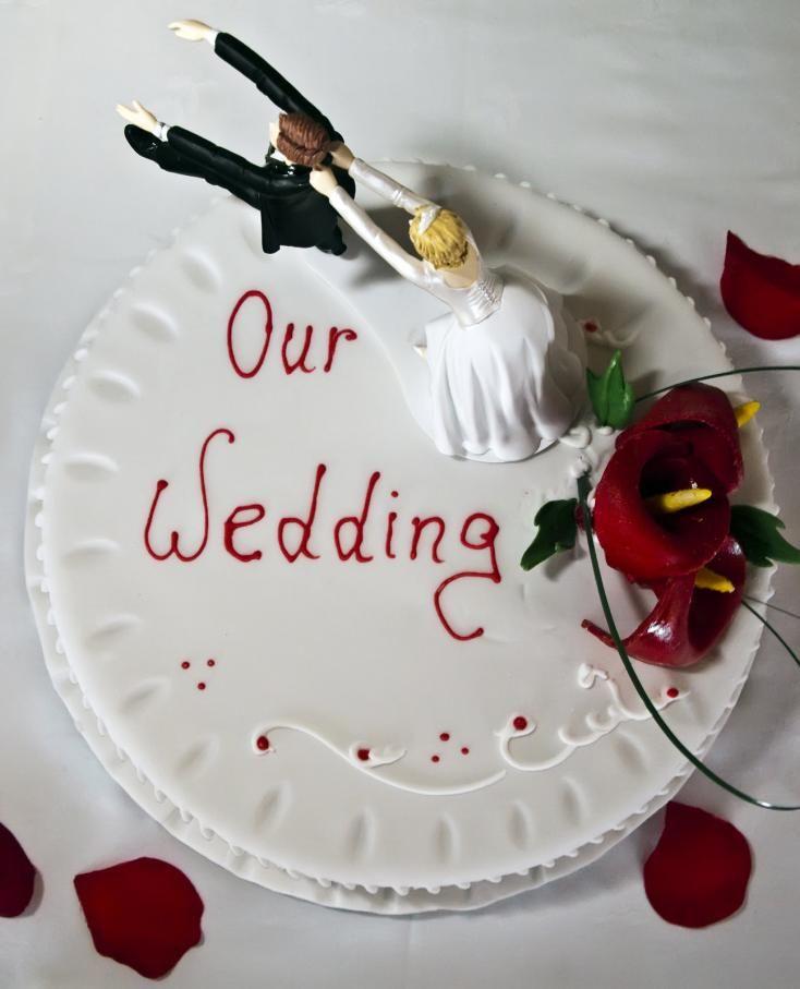 Enkel og morsom bryllupskake  http://kakene.no