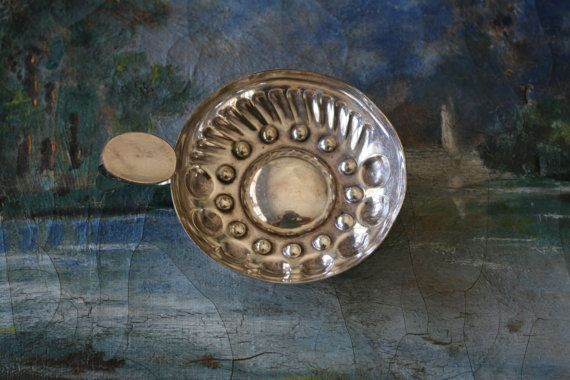 French Silver Tastevin Wine Taster Antique by FoundByHer on Etsy