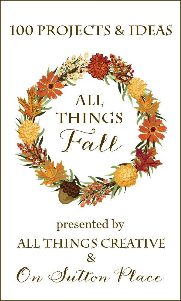 100 DIY Fall Projects and Crafts | Includes decor, porches, printables, recipes and more! An amazing collection of everything DIY for Fall.
