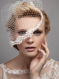 Lovebird Veil - bridcage veil with floral trim | Dee Dee Bridal Handmade vintage  inspired bridal veils, headdresses & accesssories Xx