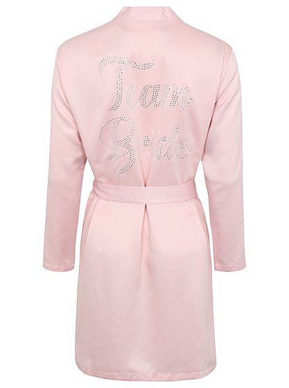 Diamante Team Bride Dressing Gown, read reviews and buy online at George at ASDA. Shop from our latest range in Women. When the big day comes, wrap yourself ...