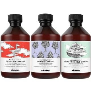 Naturaltech by Davines. The naturaltech line has an assortment of shampoo and scalp treatment to help a number of different hair issues. We also use Davines color.