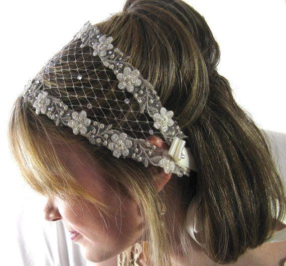 Ivory Crystal Headpiece Boho Chic Bridal Headband by BestDayBridal