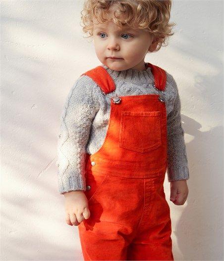 Salopette bébé mixte en velours, Petit Bateau
