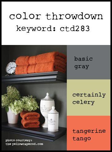 Basic Gray, Pear Pizzazz, Tangerine Tango