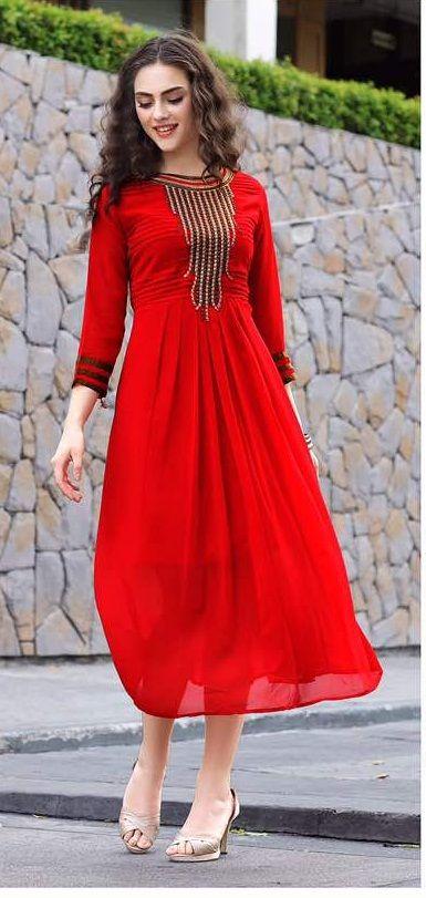 Fabric : Georgette Work : Embroidered   #latestkurti #fancykurti #attractivekurti #embroidered #fashionstyle #exclusive #partywear #kurticollection #bollywoodfashion #indainoutfit #westernwear #tunics #latestcollection #fashionstyle #stylish #indianfashion #trendy #online #fashionlove #bollywood #womanwear #designerwear #indian #kurti