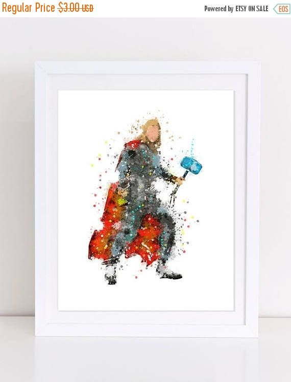 70%OFF Avengers Poster Thor poster printable thor decor