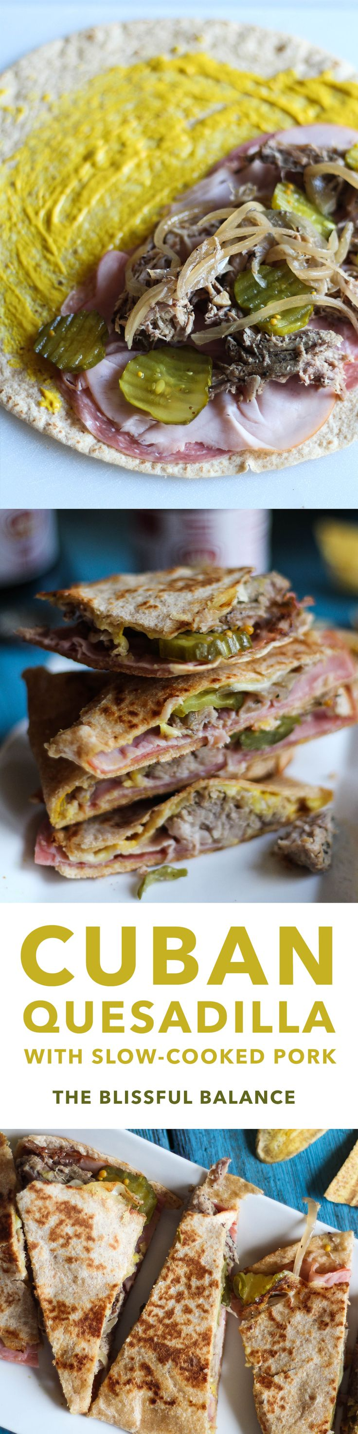 Cuban Quesadillas with Slow-Cooked Pork
