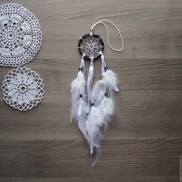 Купить Ловец снов - белый, коричневый, ловец снов, ловцы снов, dreamcatcher, подарок, бохо