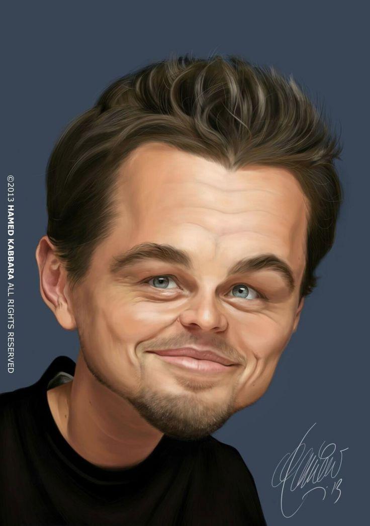 Caricatura de Leonardo Dicaprio.