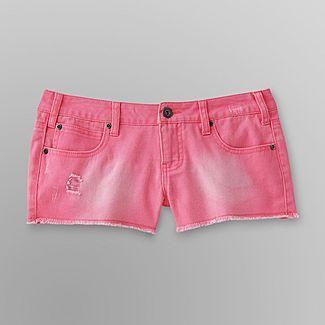 Bongo Junior's Destructed Neon Cutoff Shorts - Clothing - Juniors - Shorts & Capris