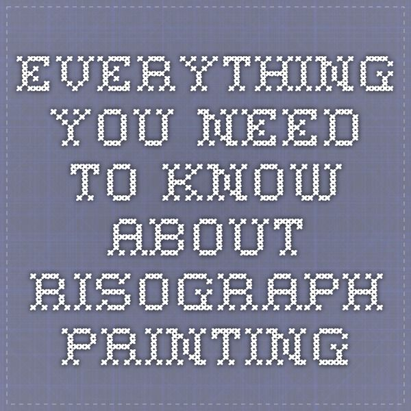 everything you need to know about risograph printing