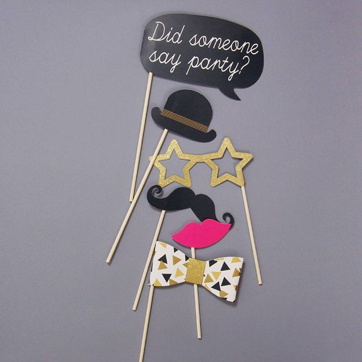 posh party photobooth props and tattoos by postbox party | notonthehighstreet.com