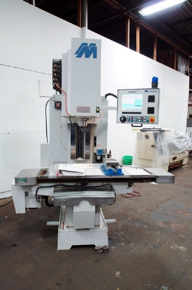 2002 Milltronics RH20 CNC Bed Mill w/ Centurion 6 - Kurt Vise, Rigid Tap